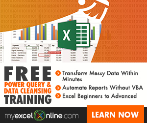 Reminder Excel Course Closing
