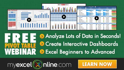 Free Excel Webinar Training Xtreme Pivot Table