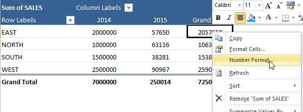 Pivot Table Number Formatting | MyExcelOnline
