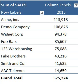 Pivot Table Filter: Top 5 Customers | Free Microsoft Excel