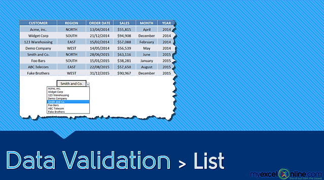 Drop Down List with Data Validation