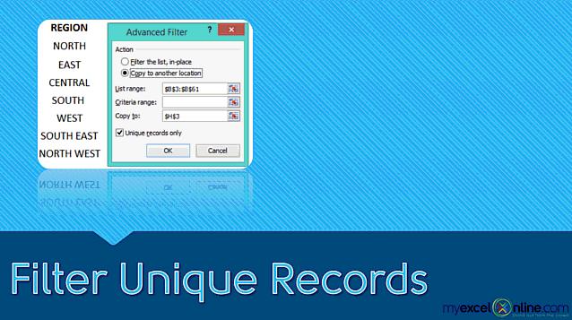 Filter Unique Records