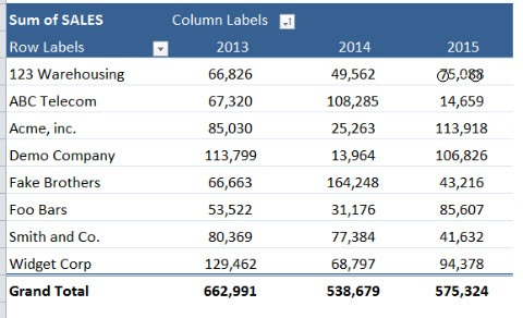 How To Insert a Pivot Table Slicer | MyExcelOnline