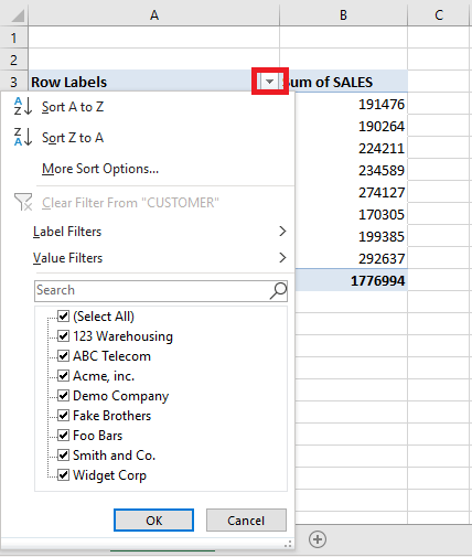Pivot Table Filter: Top 5 Customers | MyExcelOnline