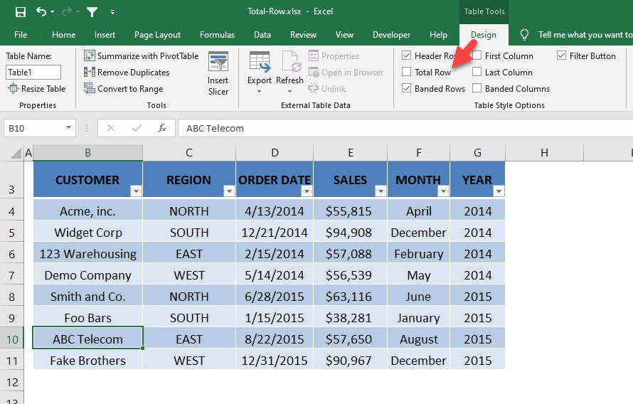 Excel Table: Row Calculations | MyExcelOnline