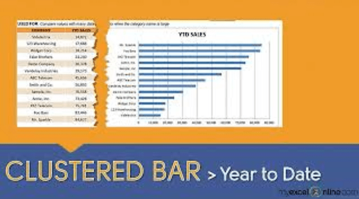 Clustered Bar Chart: Year to Date Sales