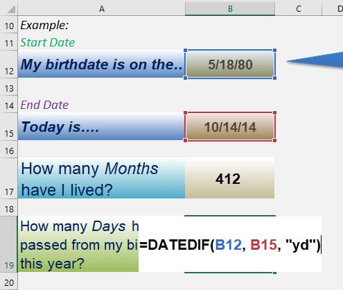 Datedif Formula