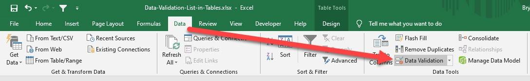 Drop Down Menu In Your Excel Table | MyExcelOnline