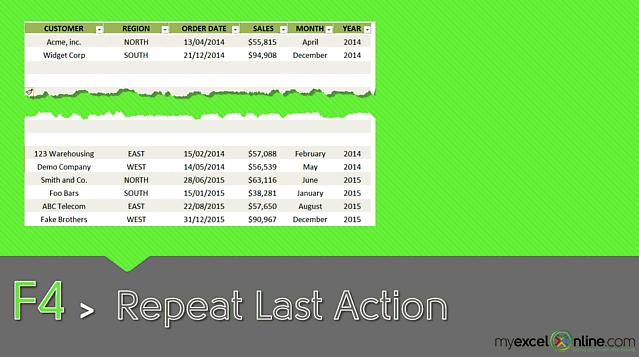 F4: Repeat Last Action