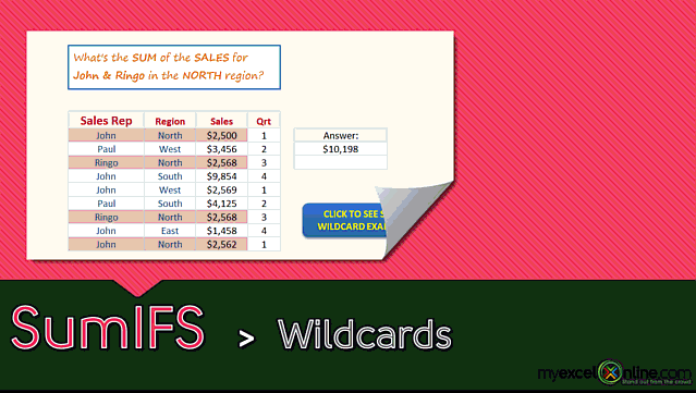 SUMIFS function: Wildcards *