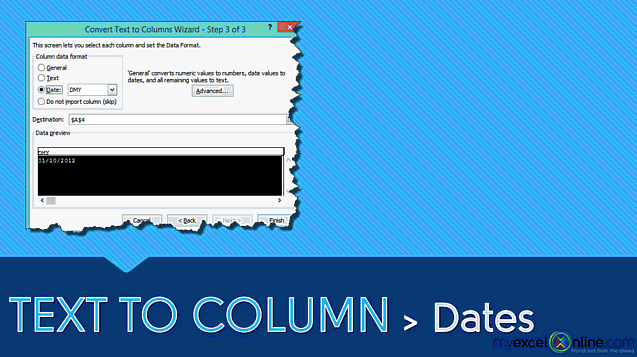 Text To Columns: Dates
