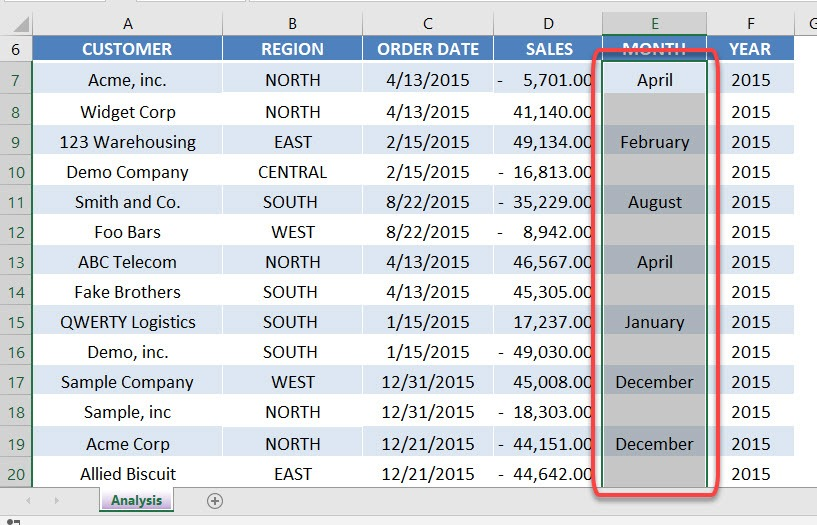 Copy The Cell Above In Excel   MyExcelOnline