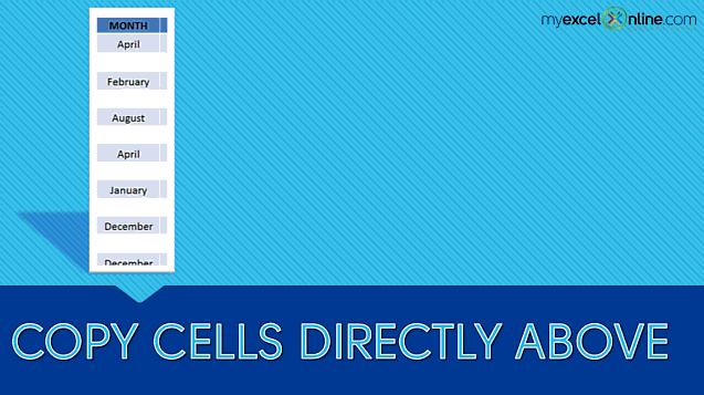 Copy The Cell Above In Excel