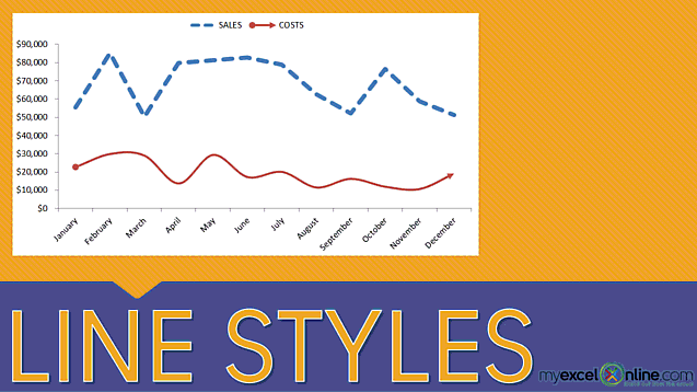 Excel Chart Line Styles
