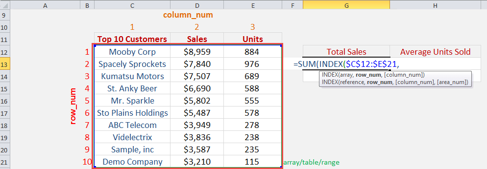 excel how to add the sum of a column