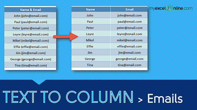 Text to Columns – Emails