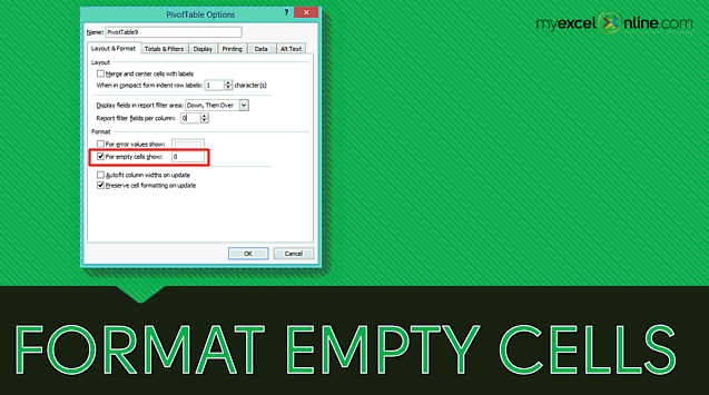 How To Fix Pivot Table Empty Cells