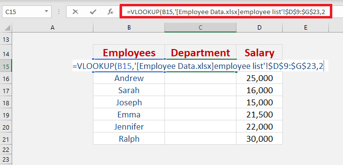 How to Use VLOOKUP between Sheets | MyExcelOnline