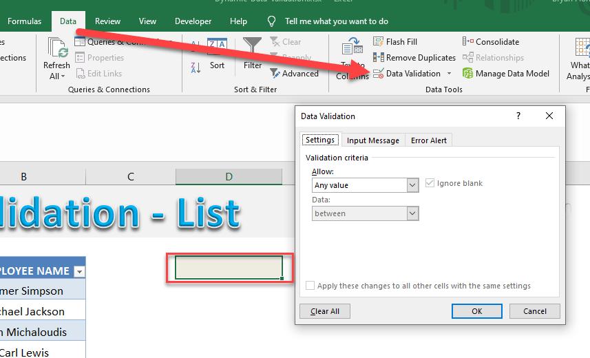 Dynamic Data Validation List | MyExcelOnline