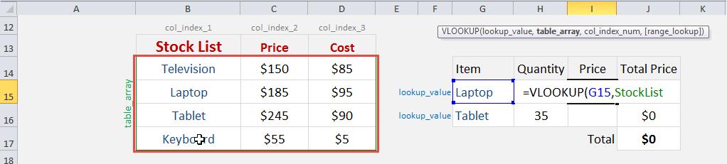 Excel Vlookup Named Range | Free Microsoft Excel Tutorials
