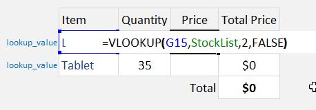 Excel Vlookup Named Range