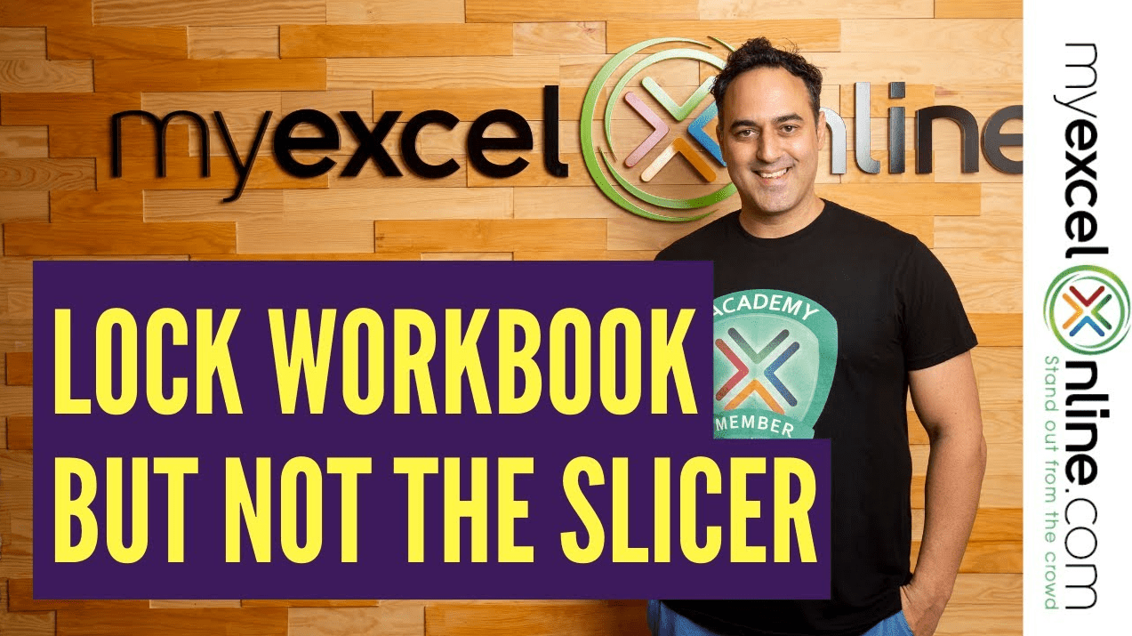 Lock the Excel Pivot Table but not the Slicer
