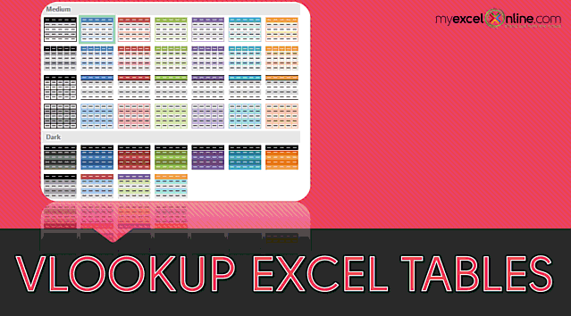 Vlookup in an Excel Table