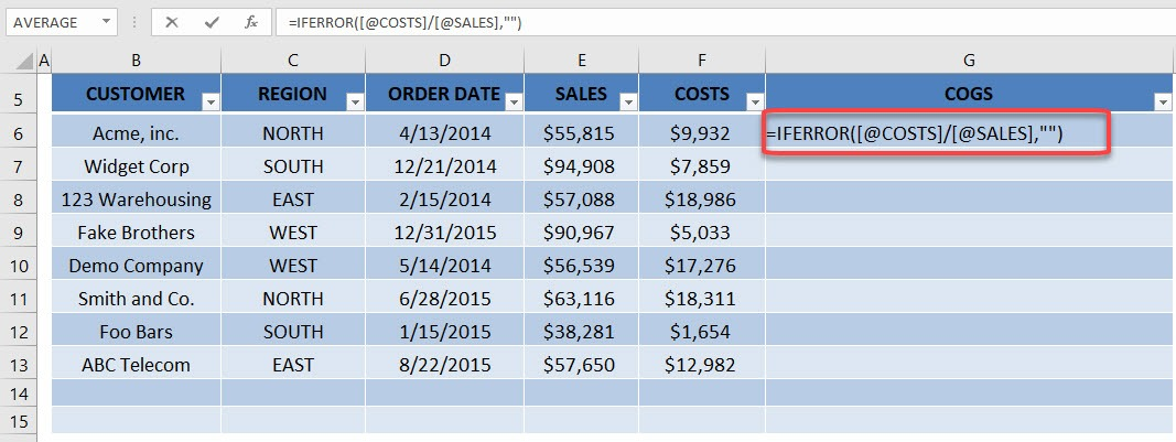 Autofill Formulas in an Excel Table | MyExcelOnline