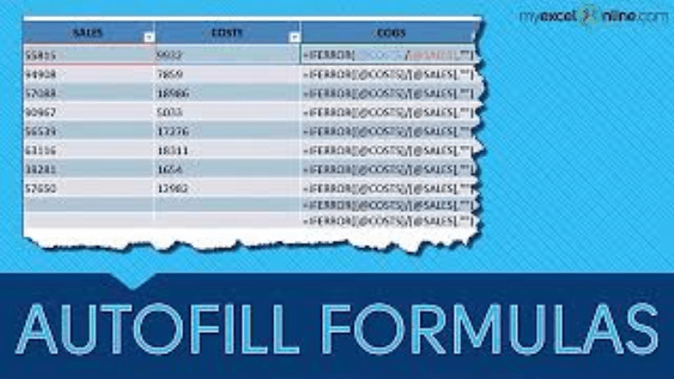 Autofill Formulas in an Excel Table