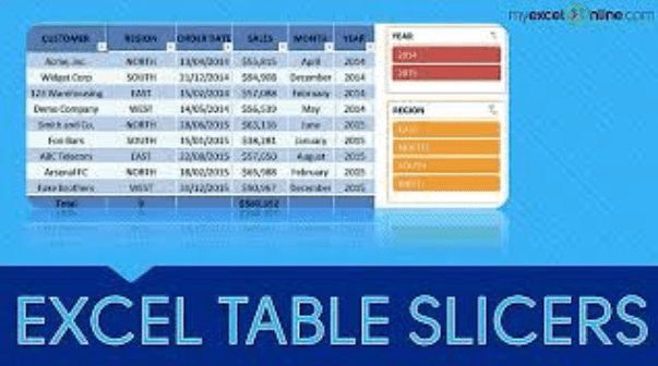 Excel Table Slicers