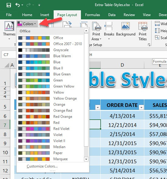 Extra Excel Table Styles   MyExcelOnline