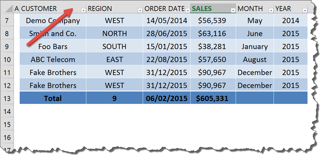Excel table headers show in columns free microsoft excel for Table th visible