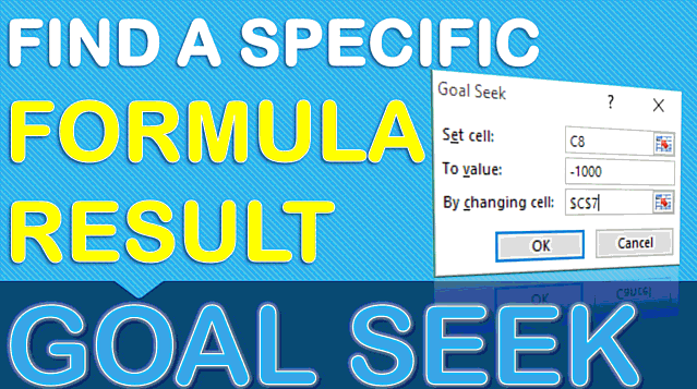 Use Excel Goal Seek To Find The Formula Result You Want