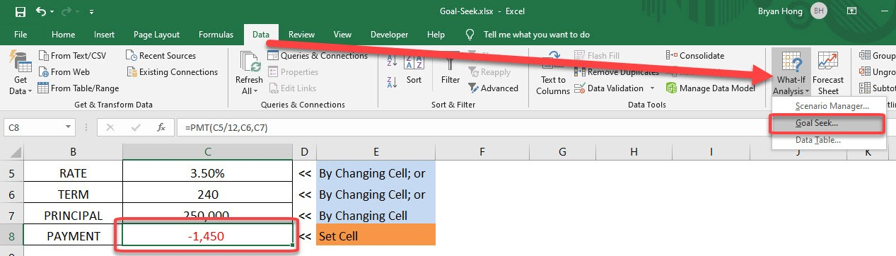 Use Excel Goal Seek To Find The Formula Result You Want | MyExcelOnline