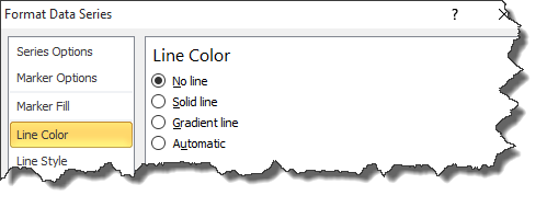 line color excel 2010