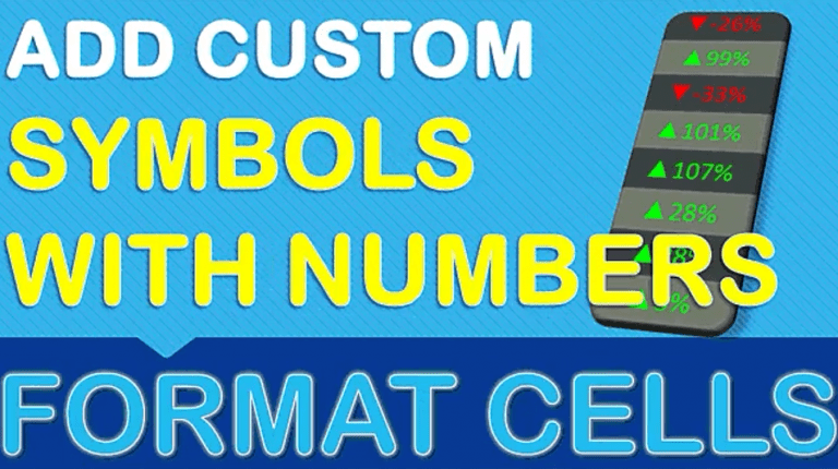 Add Custom Symbols With Your Numbers in Excel