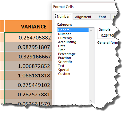 excel format cells dialogue box