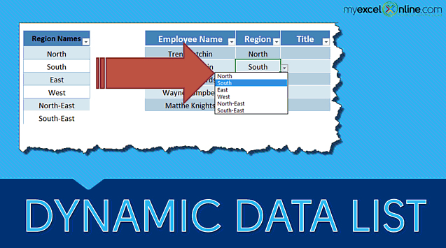 Dynamic Data List using Excel Tables