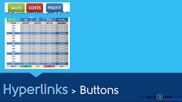 Excel Hyperlinks: Buttons