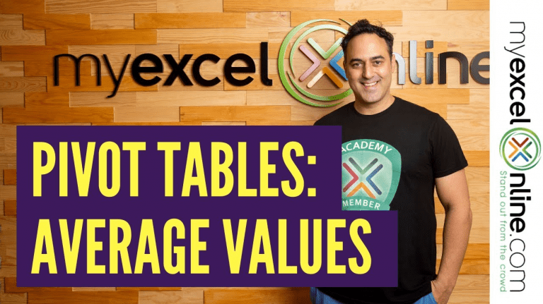 Show Averages With an Excel Pivot Table