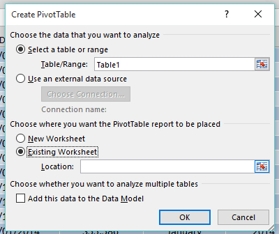 Multiple Excel Pivot Tables