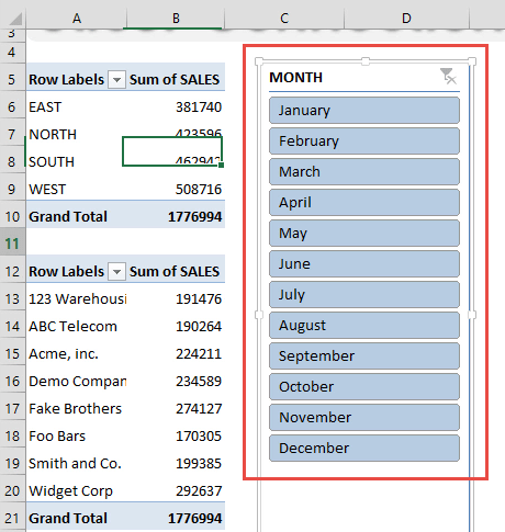 Connect Slicers To Multiple Excel Pivot Tables | MyExcelOnline