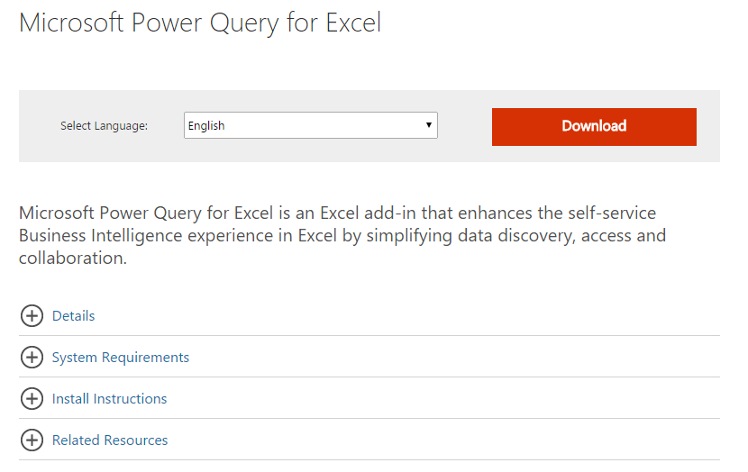 power query link