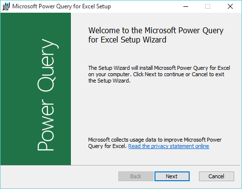 power query set up