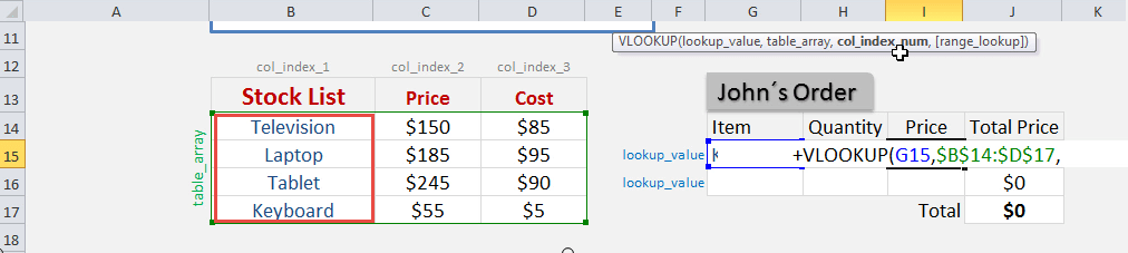 Excel VLOOKUP with Drop Down | Free Microsoft Excel Tutorials