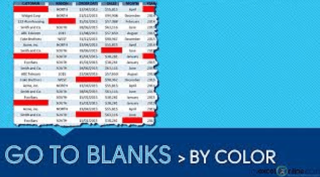 Find Blank Cells In Excel With A Color