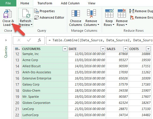 Consolidate Multiple Excel Sheets Using Power Query Append - Free ...