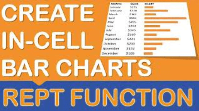 In-Cell Bar Charts with the REPT Function