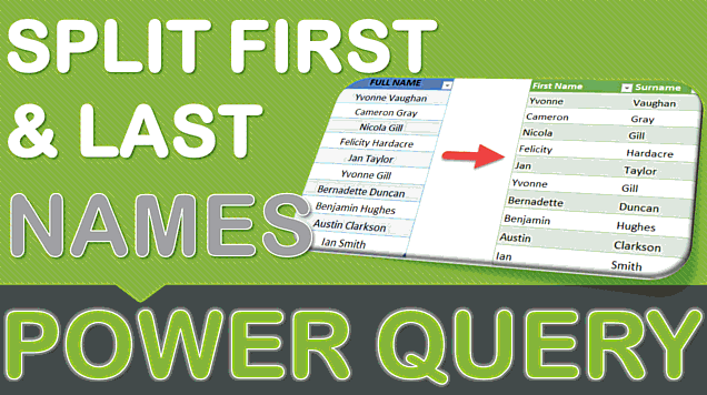 Split First & Last Name Using Power Query