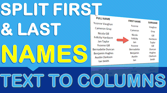 Split First & Last Name Using Text to Columns